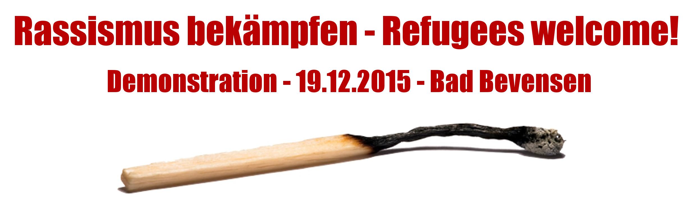 Rassismus bekämpfen-Refugees welcome